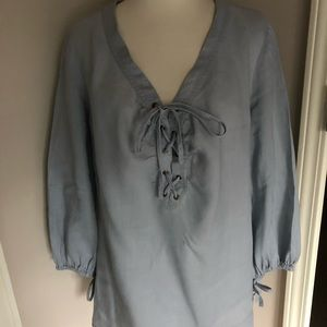 Sunny Leigh linen blouse size L